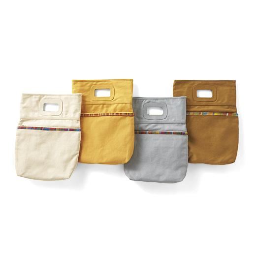チャレンジド・クリエイティブ・プロジェクト さをり織りがアクセント クラッチになる縦型バッグインバッグの会