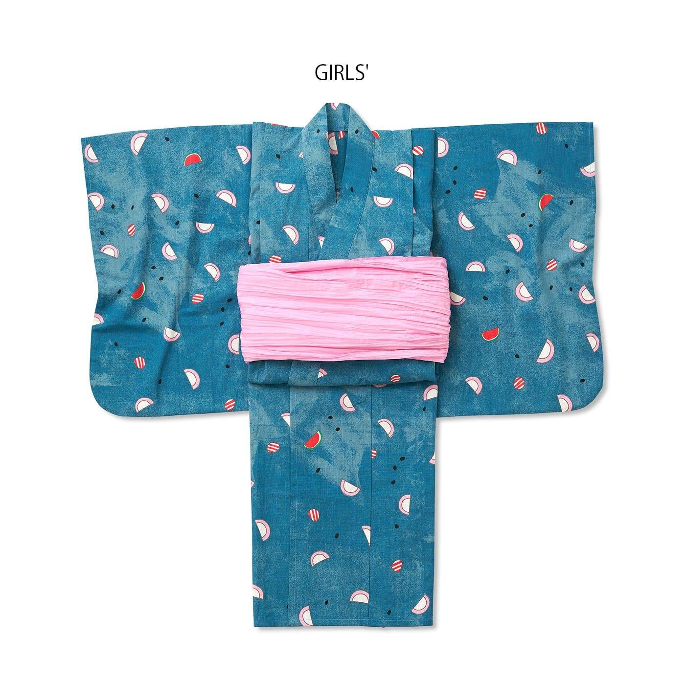 京都Subikiawa食器店さんとつくった かまぼこ柄の浴衣(ゆかた)