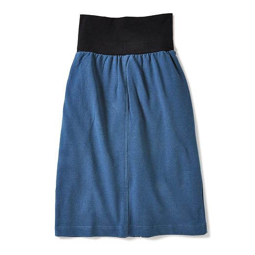 フェリシモ 重ねないのに重ねてる 時短をかなえる ワンステップニットデニムスカート(タイプ3)