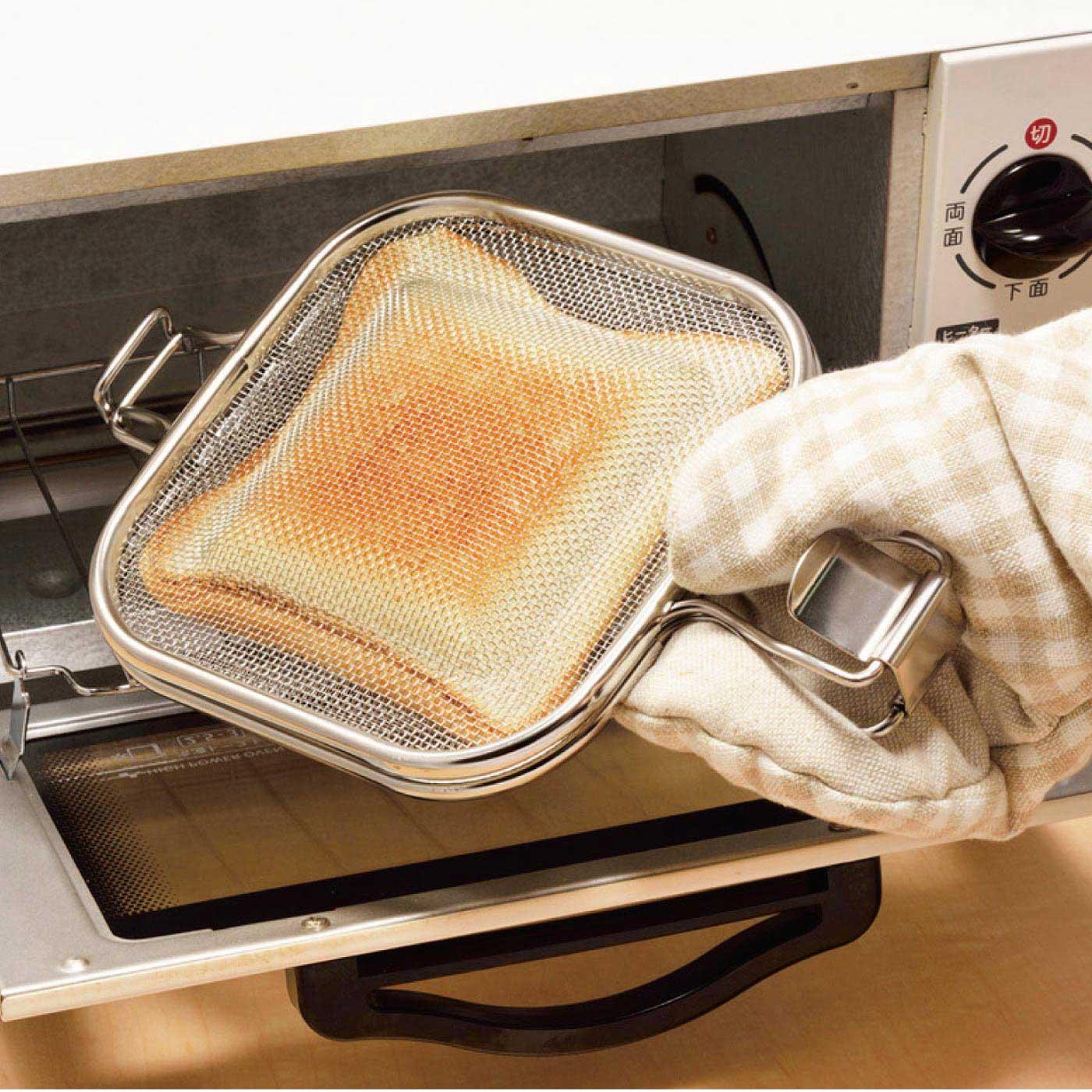 HOW TO USE② オーブントースターで焼くだけ。