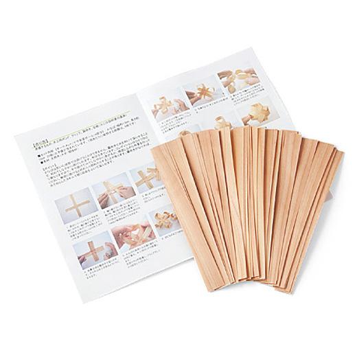 「かばな」ってなに? 高知県・馬路村のスギの間伐材を0.3㎜の薄さにスライスしたクラフト素材。ほんのりスギのいい香りがします。