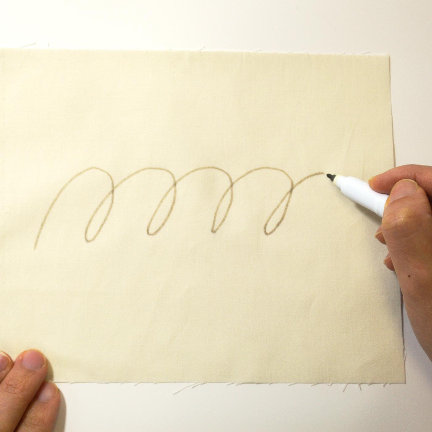 太書きで書いた線です