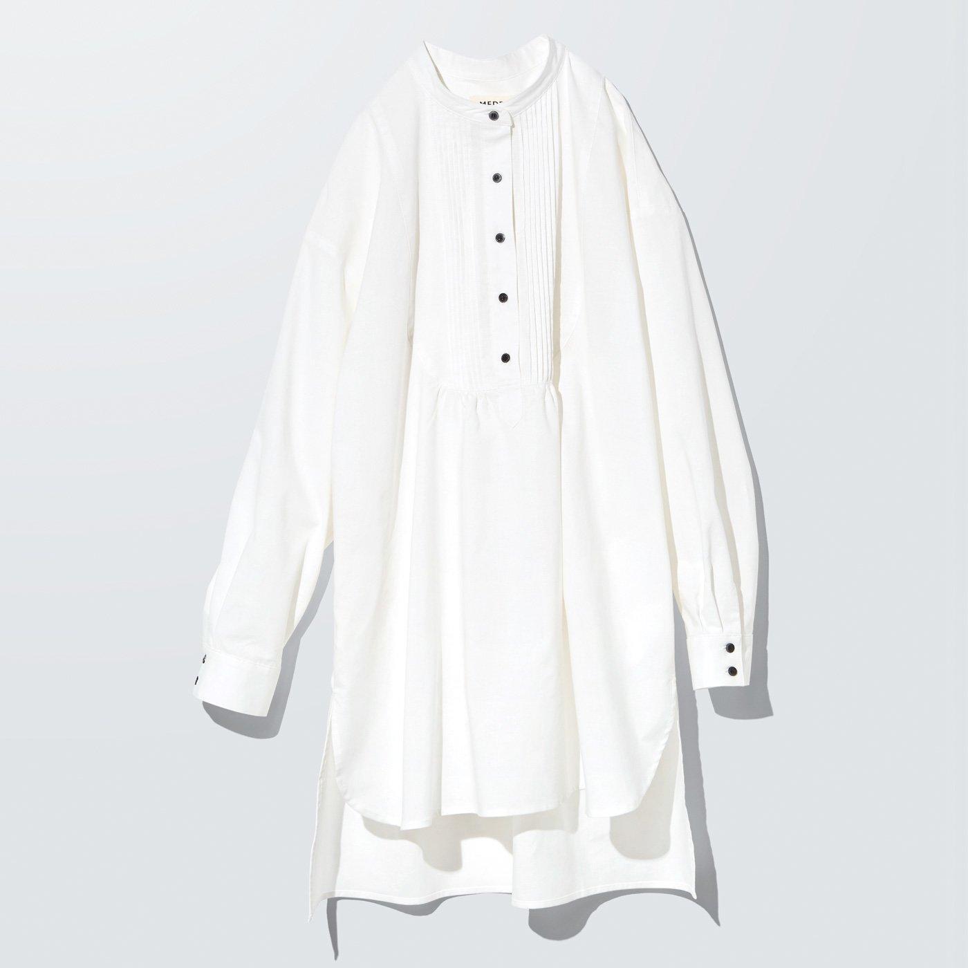 MEDE19F オーバーサイズグランパシャツ〈オフホワイト〉