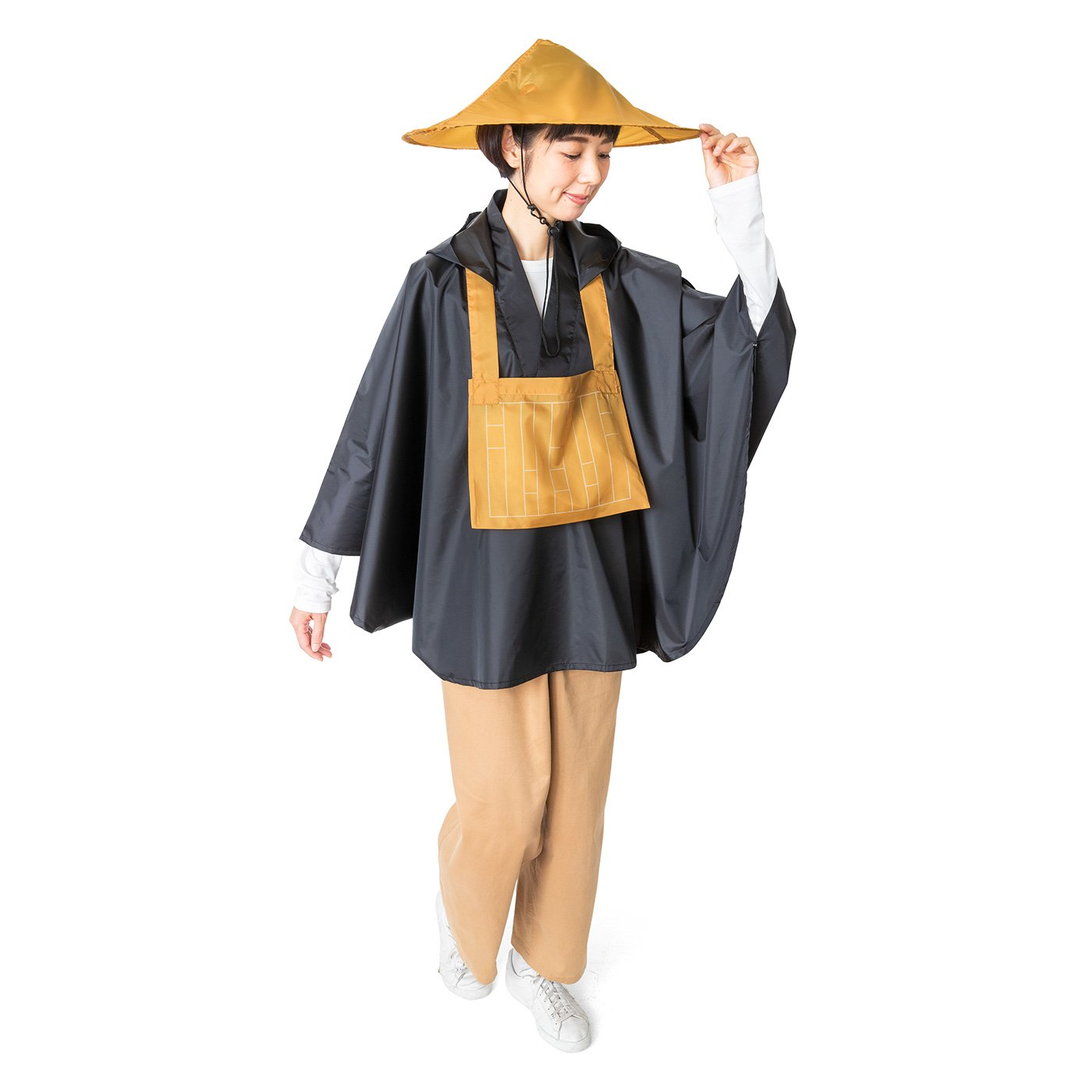 なりきり僧侶スタイル 僧衣レインポンチョ