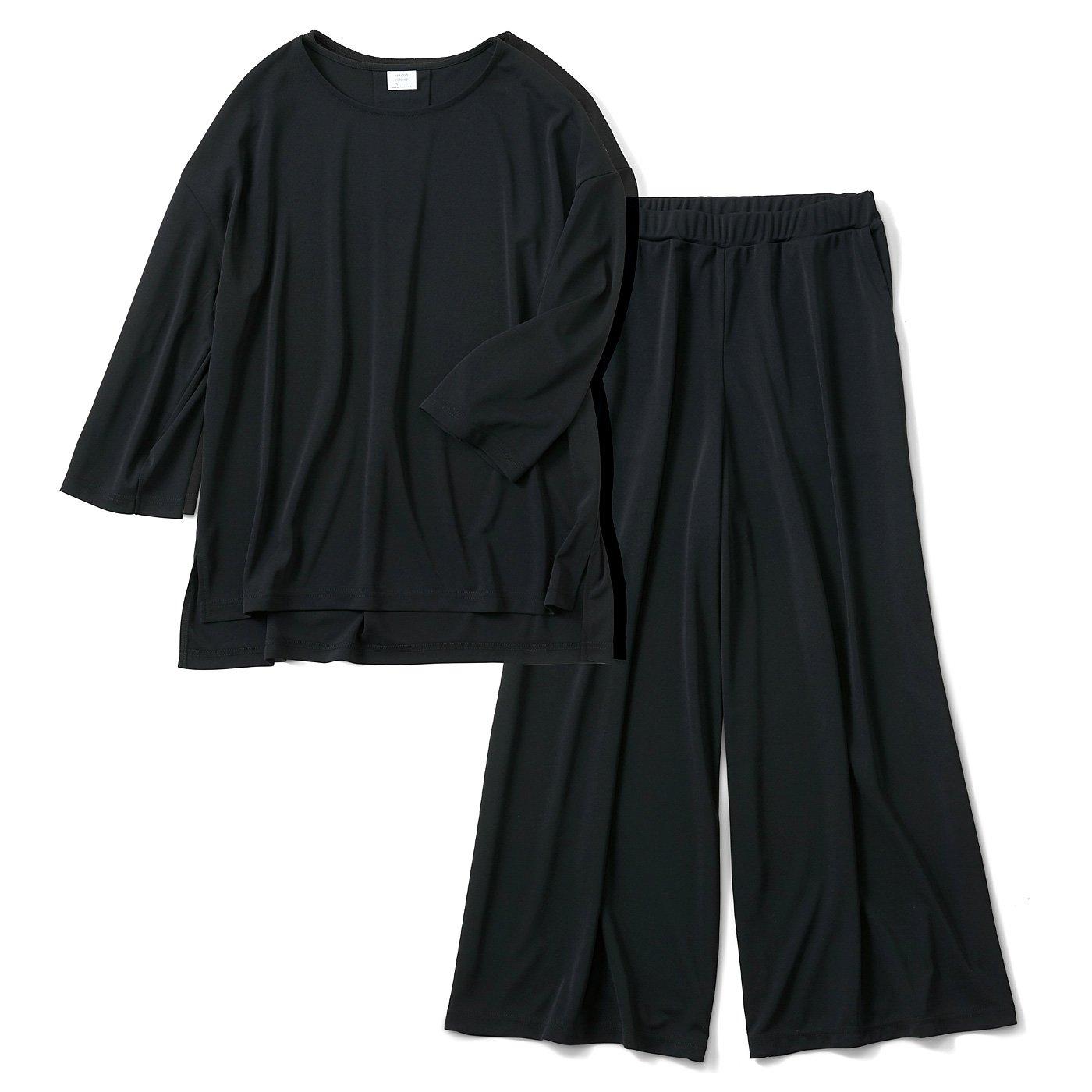 HIROMI YOSHIDA. きちんときれいなパンツセットアップ〈ブラック〉