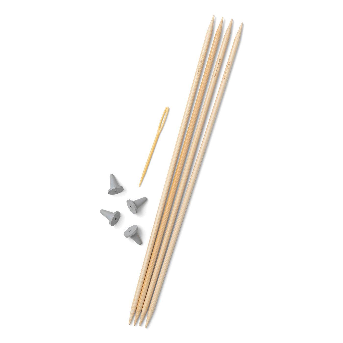 棒針10号4本針とキャップととじ針セット