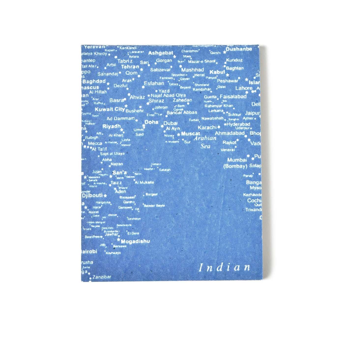 PEACE BY PEACE コットンプロジェクト コットンペーパー 一筆箋メモ ボーダレスマップ〈小〉