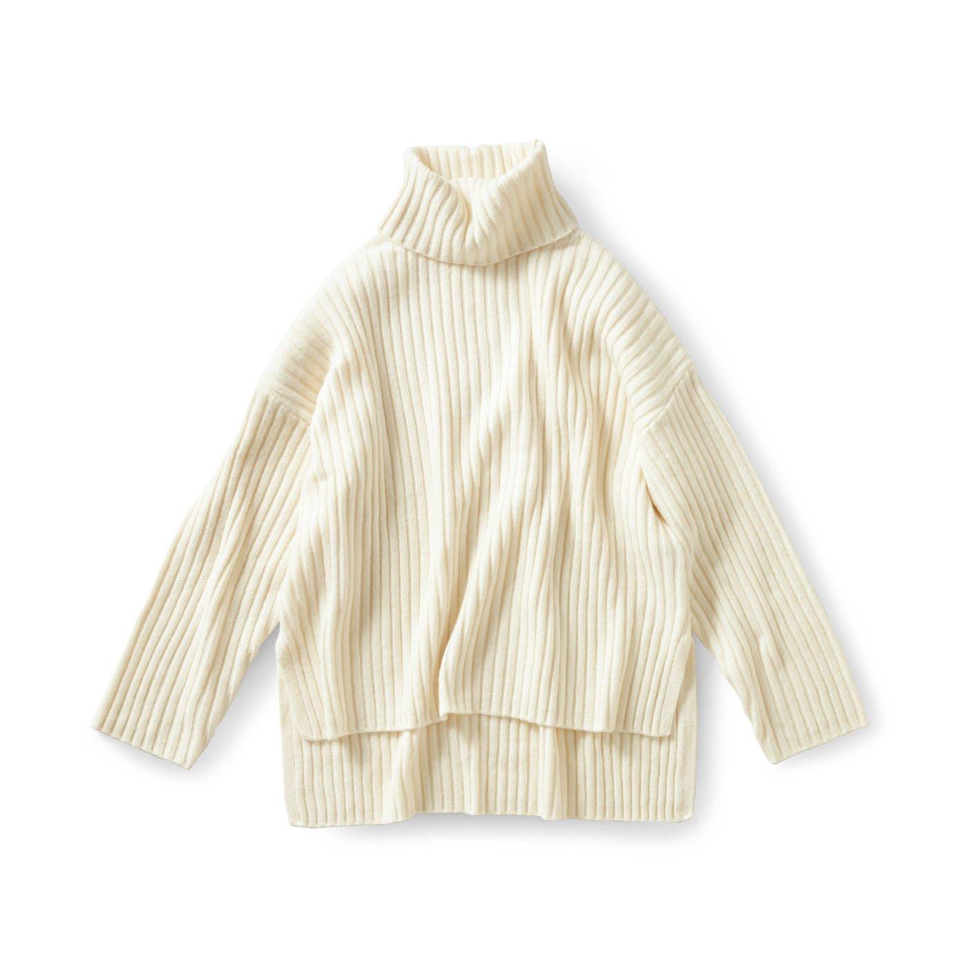 and myera オーバーサイズのタートルセーター