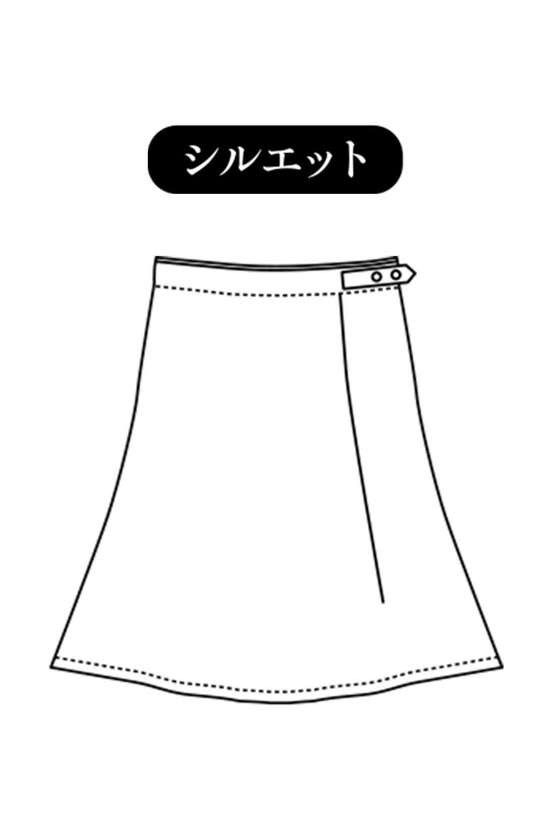 ミモレ丈のフレアー 大人の女性も安心のひざ下丈。きちんと上品に見えて、カジュアルにもフェミニンにも着こなしやすいベストなバランス感とシルエット。