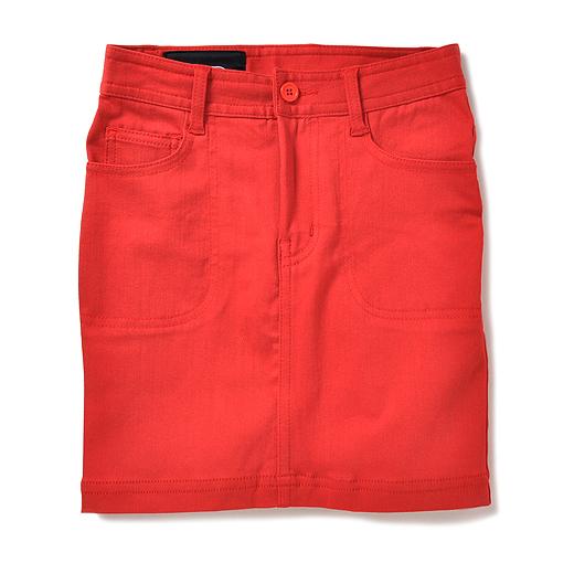 NUSY ストレッチ素材のはきやすさ満点スカート(レッド)