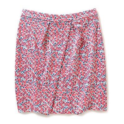<フェリシモ>NUSY ウシロマエ着られるツーウェイタックススカート(レッドxネイビー)【送料無料】