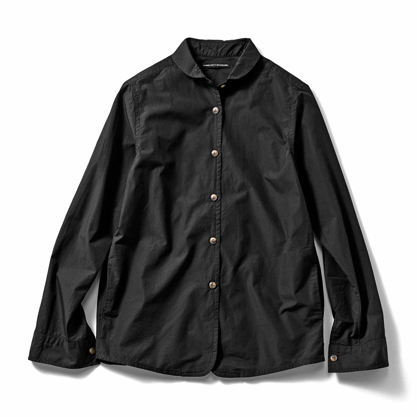 THREE FIFTY STANDARD ジャケットみたいに着こなすブラックシャツ