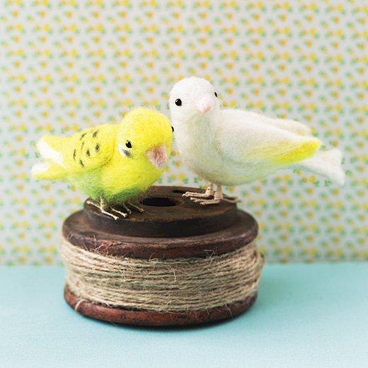 さくさくニードルフェルト お部屋に遊びに来た かわいい小鳥たち