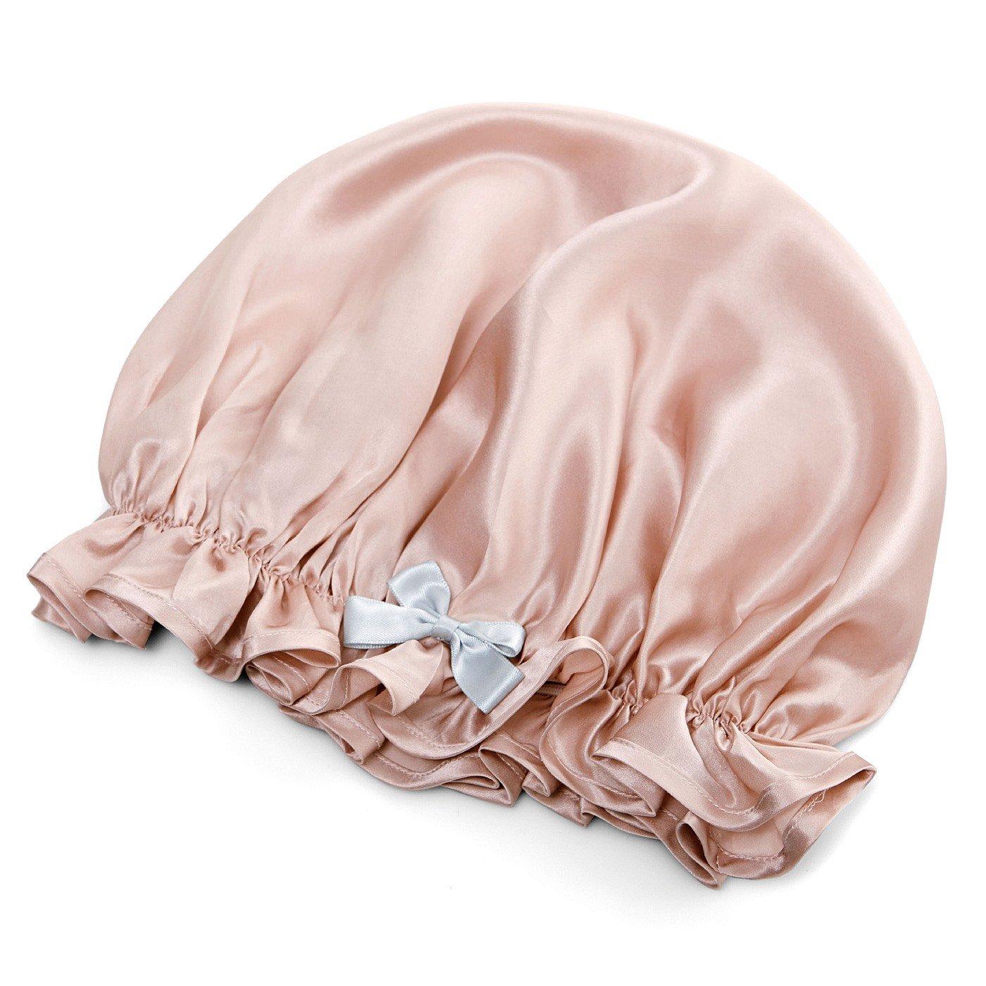 シルクでさらりと髪を包み込む 贅沢(ぜいたく)気分でうっとり ナイトキャップ