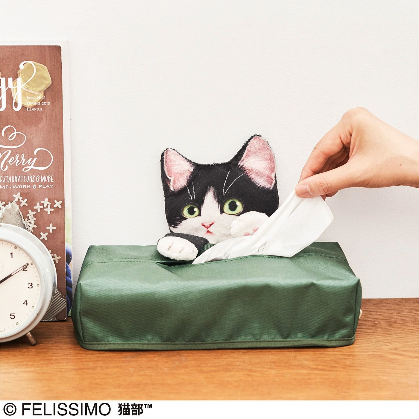 うずうずするニャ!いたずら子猫のティッシュカバーの会