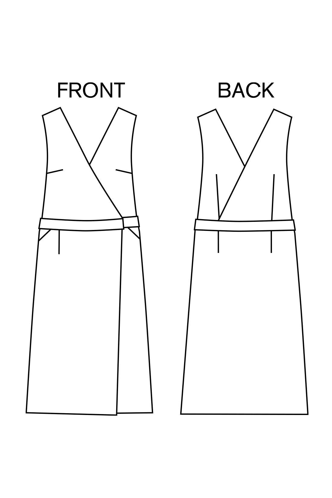 縦のラインを強調してすらりと細見え スタイリッシュなIラインで、子どもっぽく見える心配なし。胸もとはカシュクール、スカートにはラップ風のディテールを盛り込んだメリハリあるデザイン。