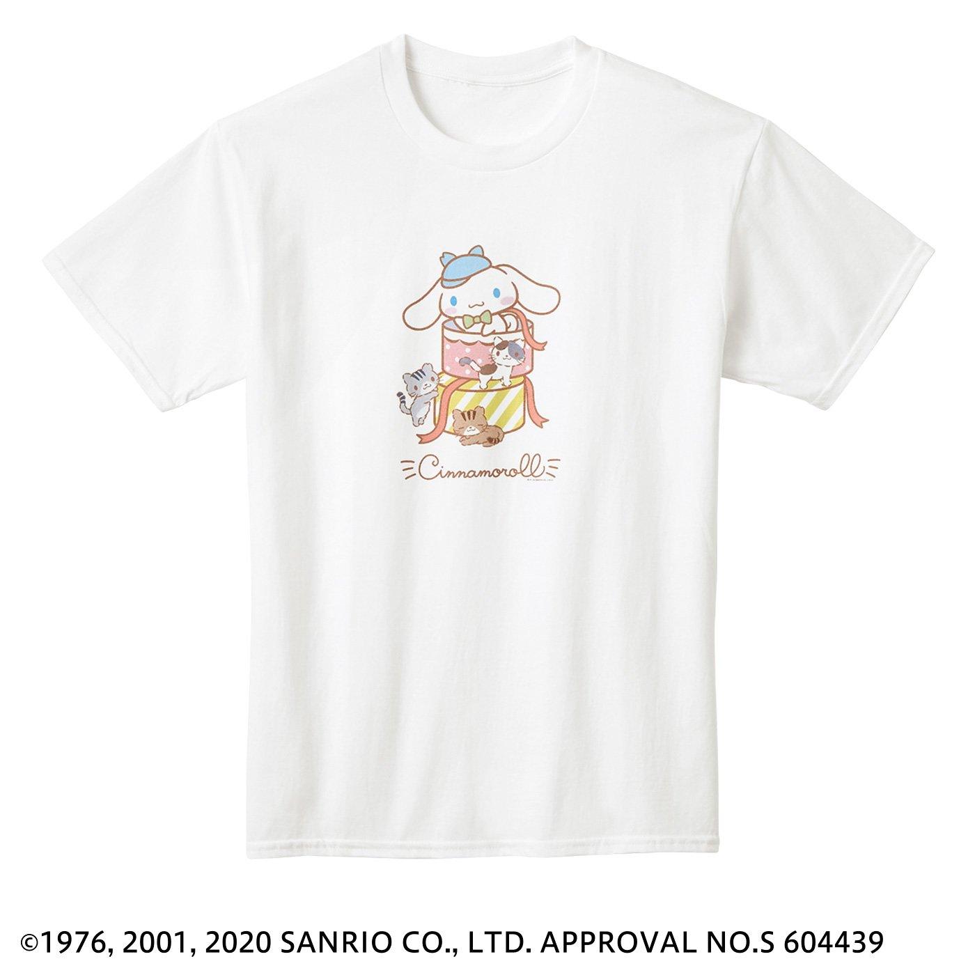 猫部×シナモロール 地域猫チャリティーTシャツ2020