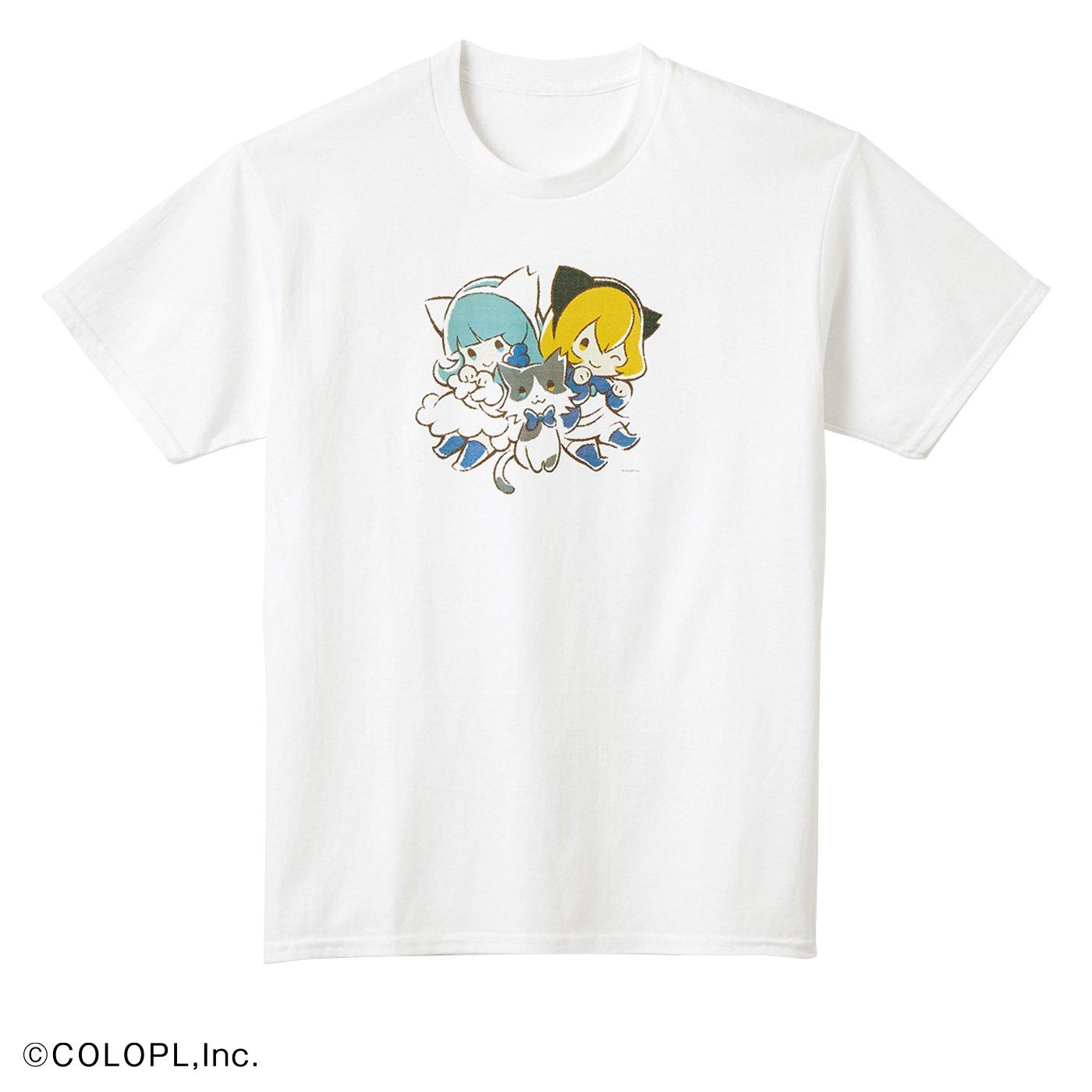 猫部×コロプラ 地域猫チャリティーTシャツ2020
