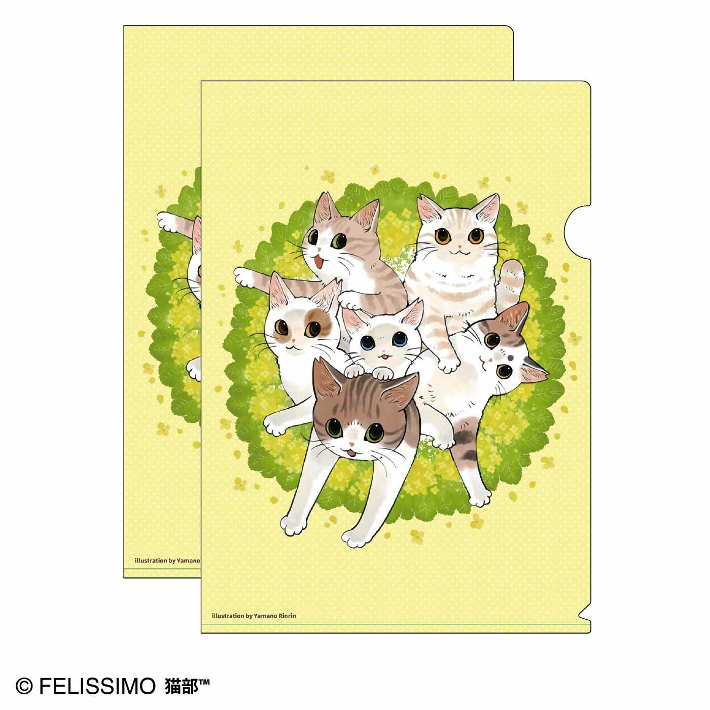 猫部×山野りんりん 地域猫チャリティークリアファイル2020