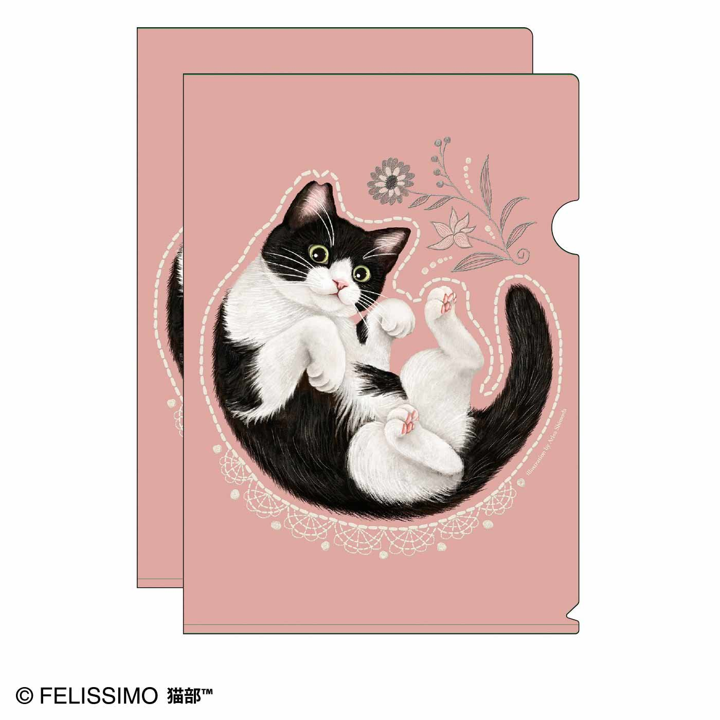 猫部×霜田有沙 地域猫チャリティークリアファイル2020