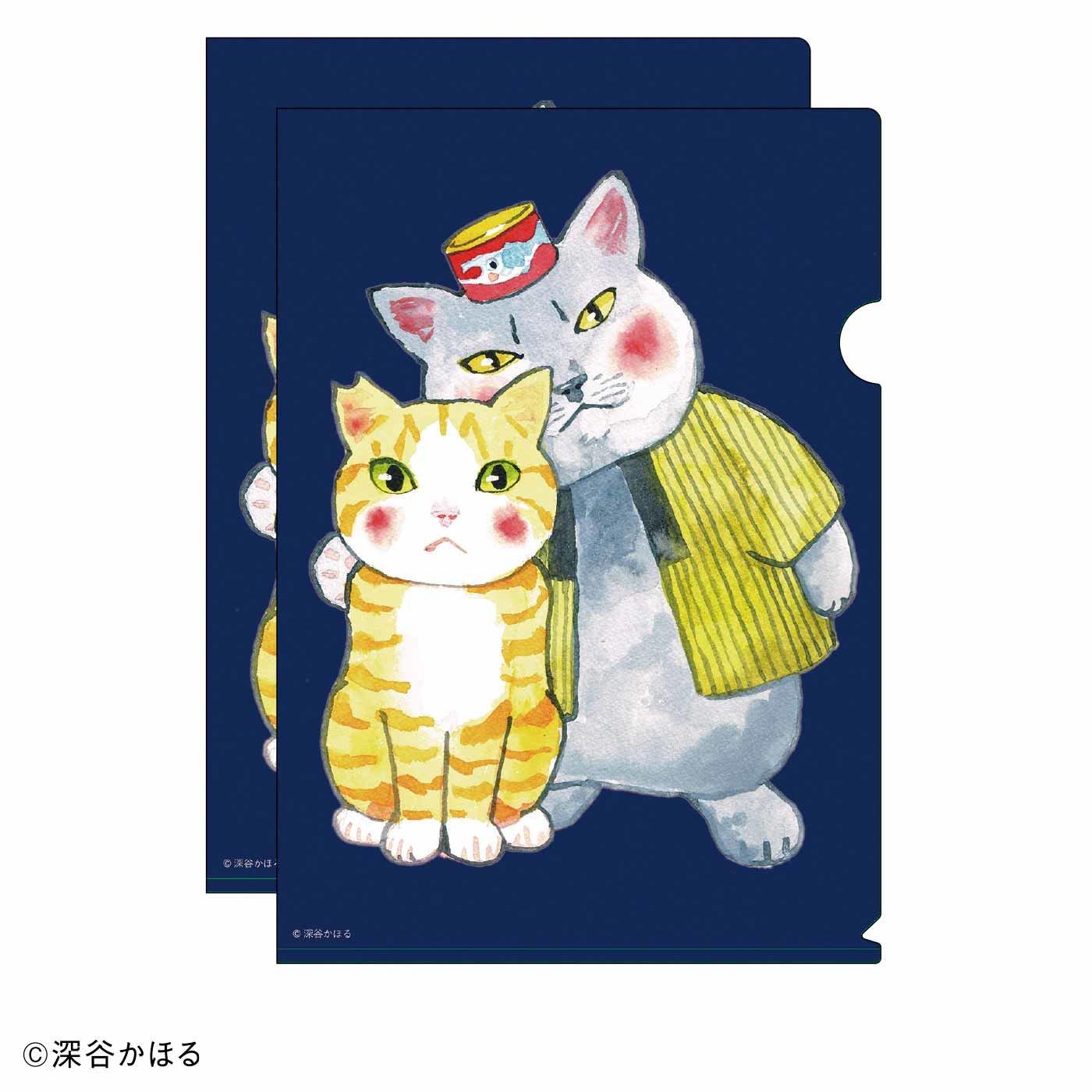 猫部×深谷かほる 地域猫チャリティークリアファイル2020