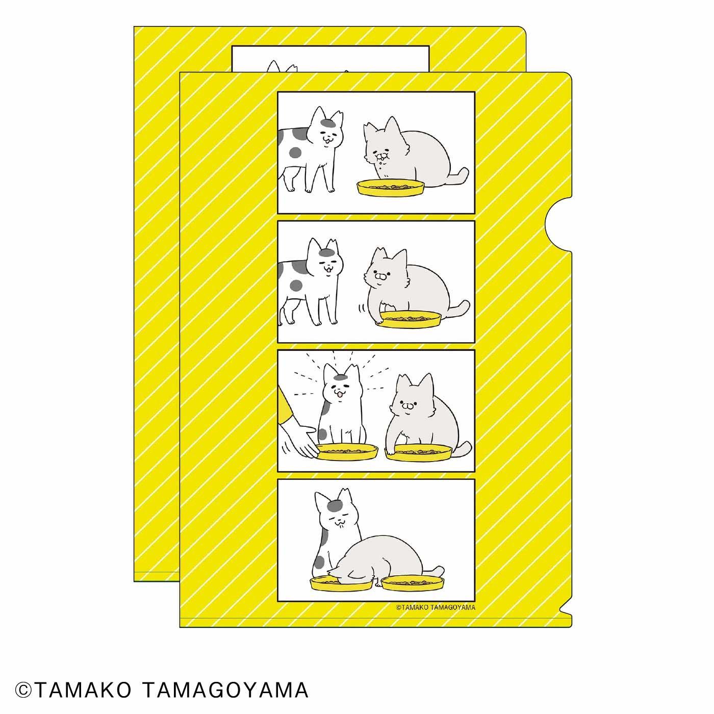 猫部×卵山玉子 地域猫チャリティークリアファイル2020