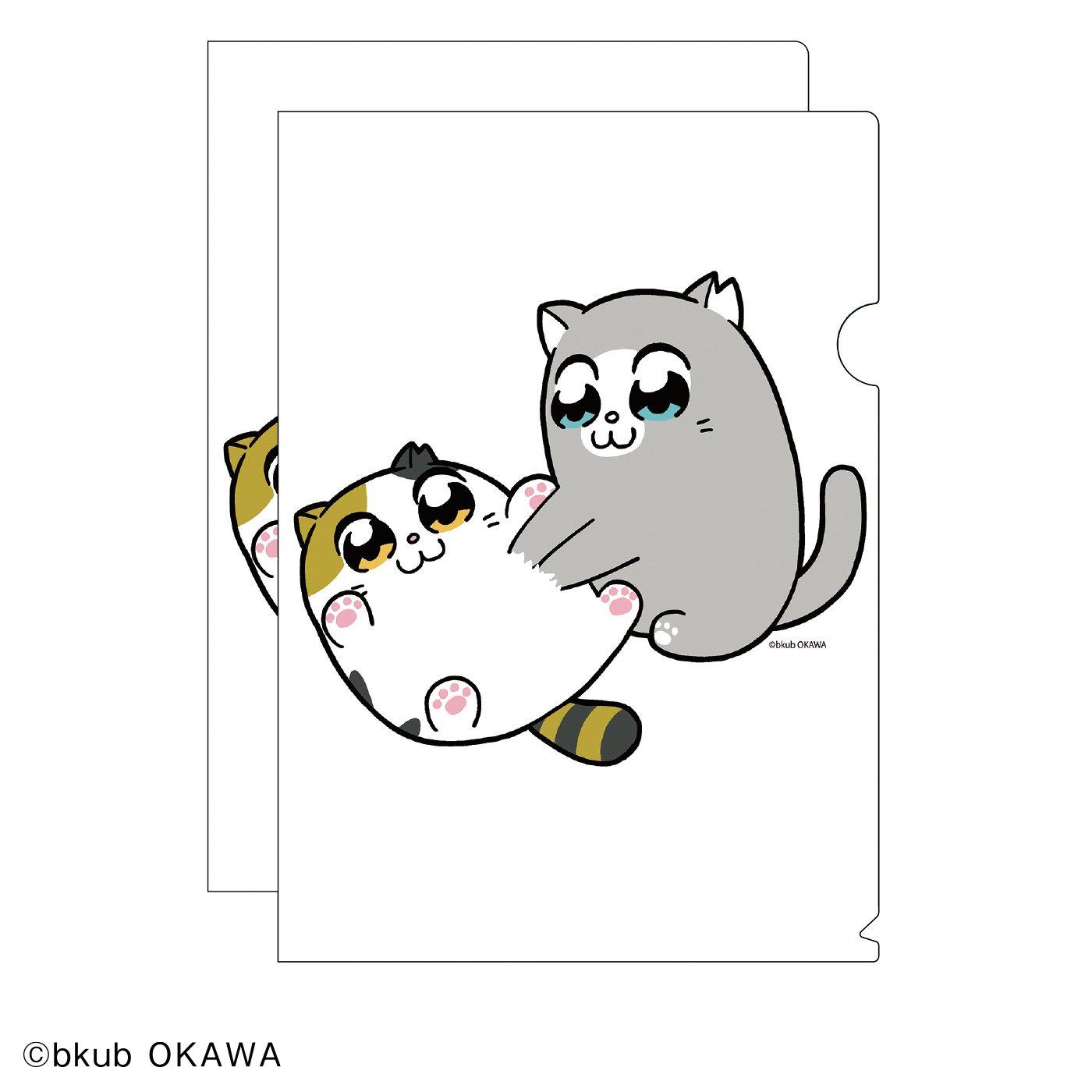 猫部×大川ぶくぶ 地域猫チャリティークリアファイル2020