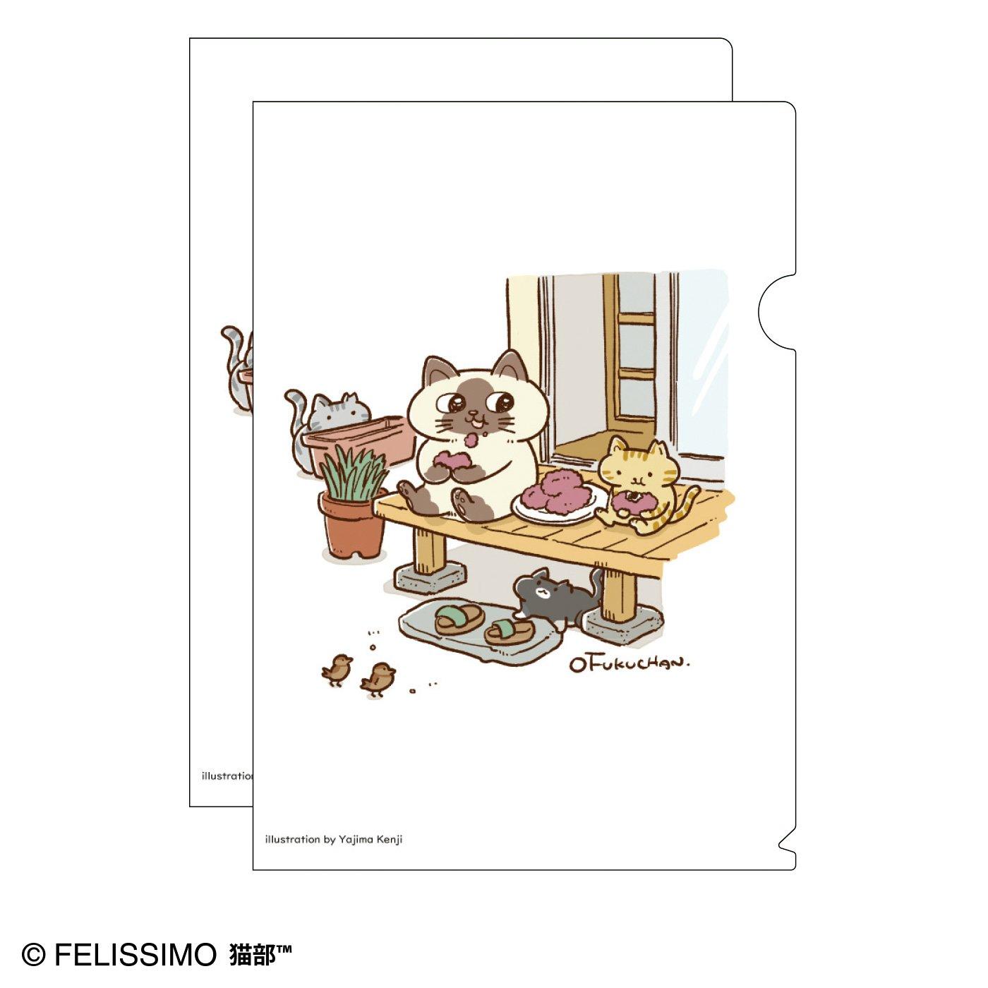 猫部×やじまけんじ 地域猫チャリティークリアファイル2020