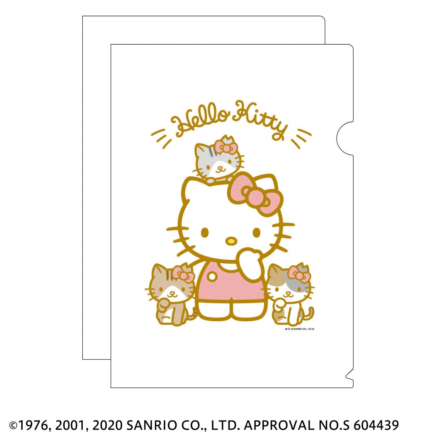 猫部×ハローキティ 地域猫チャリティークリアファイル2020
