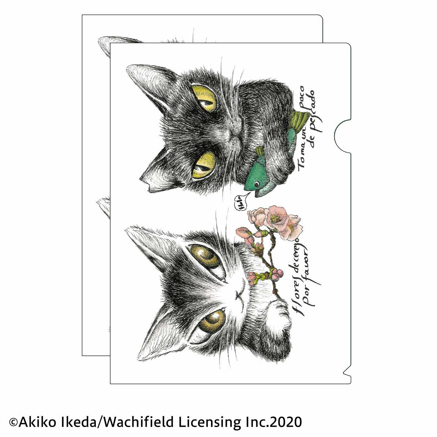 猫部×ダヤン 地域猫チャリティークリアファイル2020