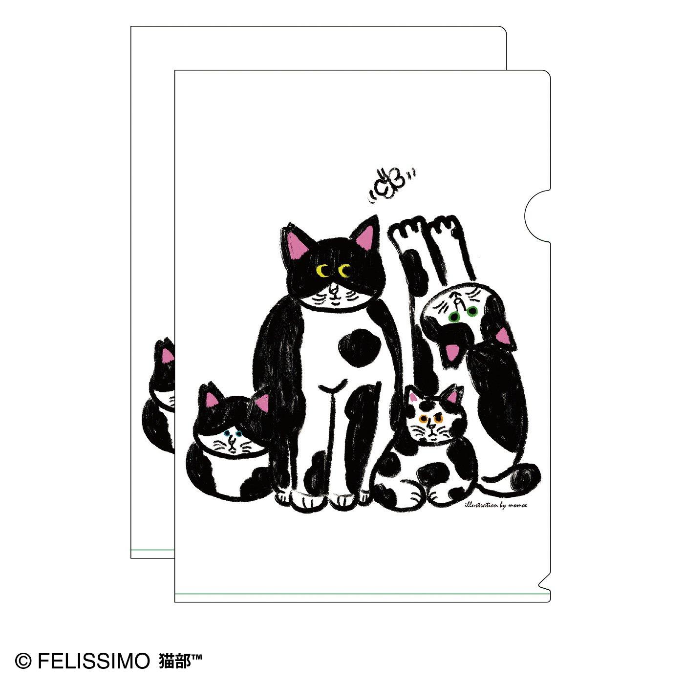 猫部×momoe 地域猫チャリティークリアファイル2020