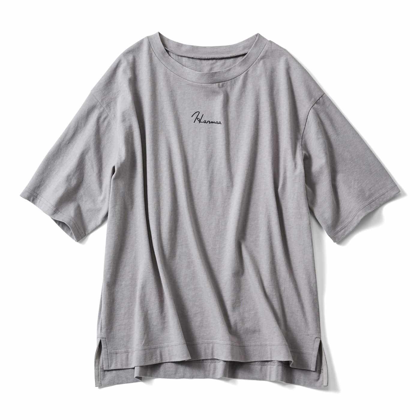 リブ イン コンフォート 汗じみ軽減加工でスマート 大人のロゴTシャツの会