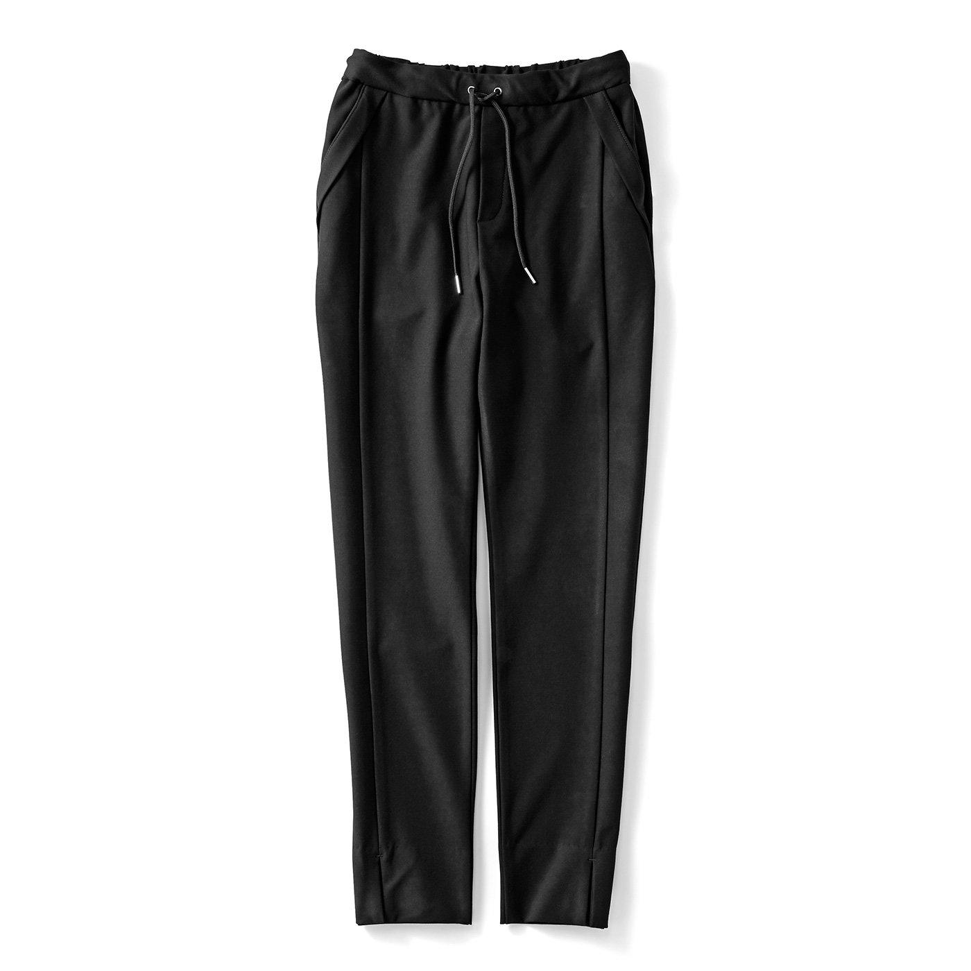 IEDIT[イディット] いつもキレイな黒が続く 純黒スマートパンツ