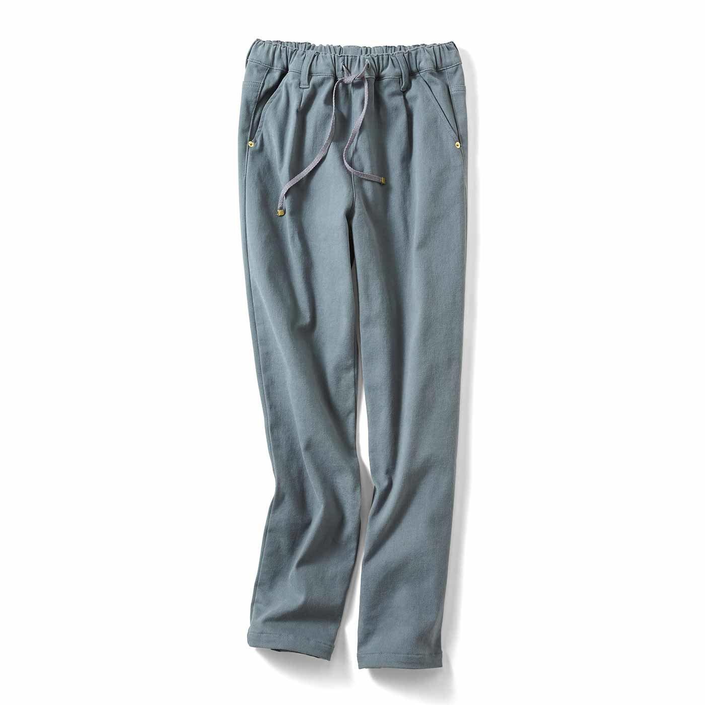 リブ イン コンフォート あったかパンツの新定番! 両面微起毛のやさしいねパンツ〈ブルーグレー〉