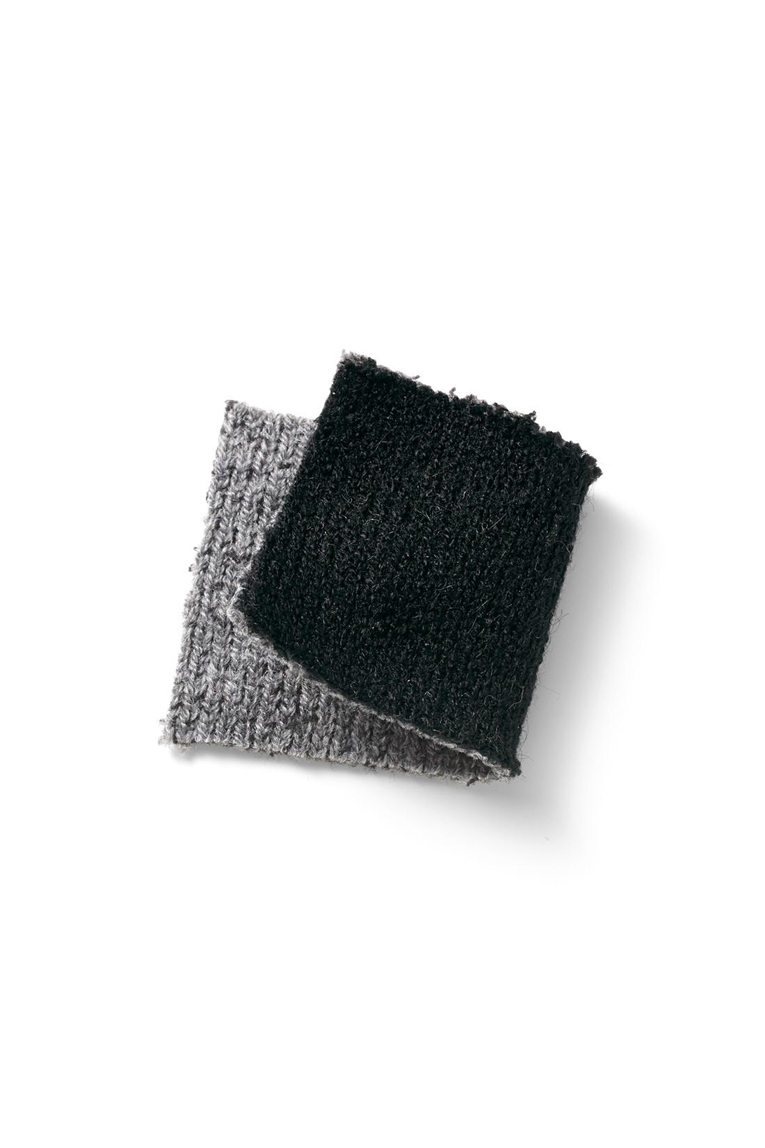 表裏が配色遣いのダブルフェイス素材は肉厚ながらとても軽い着心地。 ※お届けするカラーとは異なります。