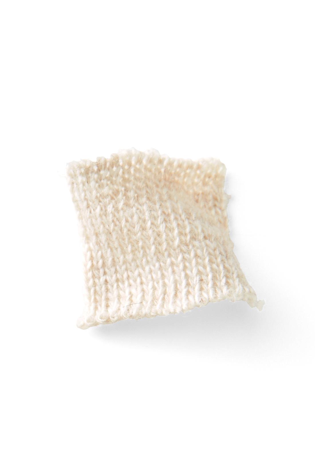 ふんわりやわらかで暖かい注目のヤク混ウールを使用。