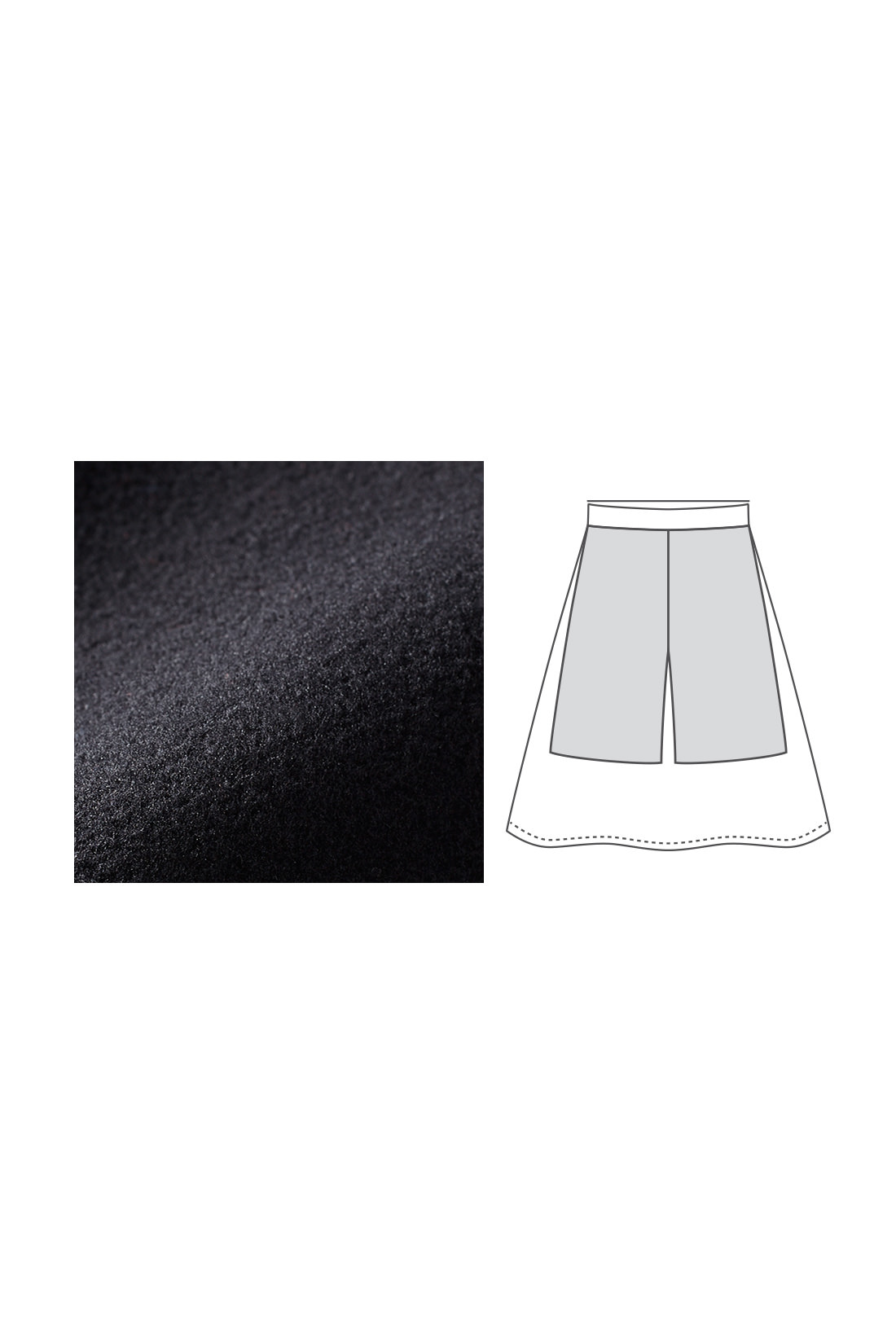 インナーパンツ付き ひざ上までの裏起毛インナーパンツ付きなのでスカート特有の脚の冷え感が解消され、しっかり暖か。インナーパンツは伸びやかなカットソー素材でタイツとの重ねばきもOK。