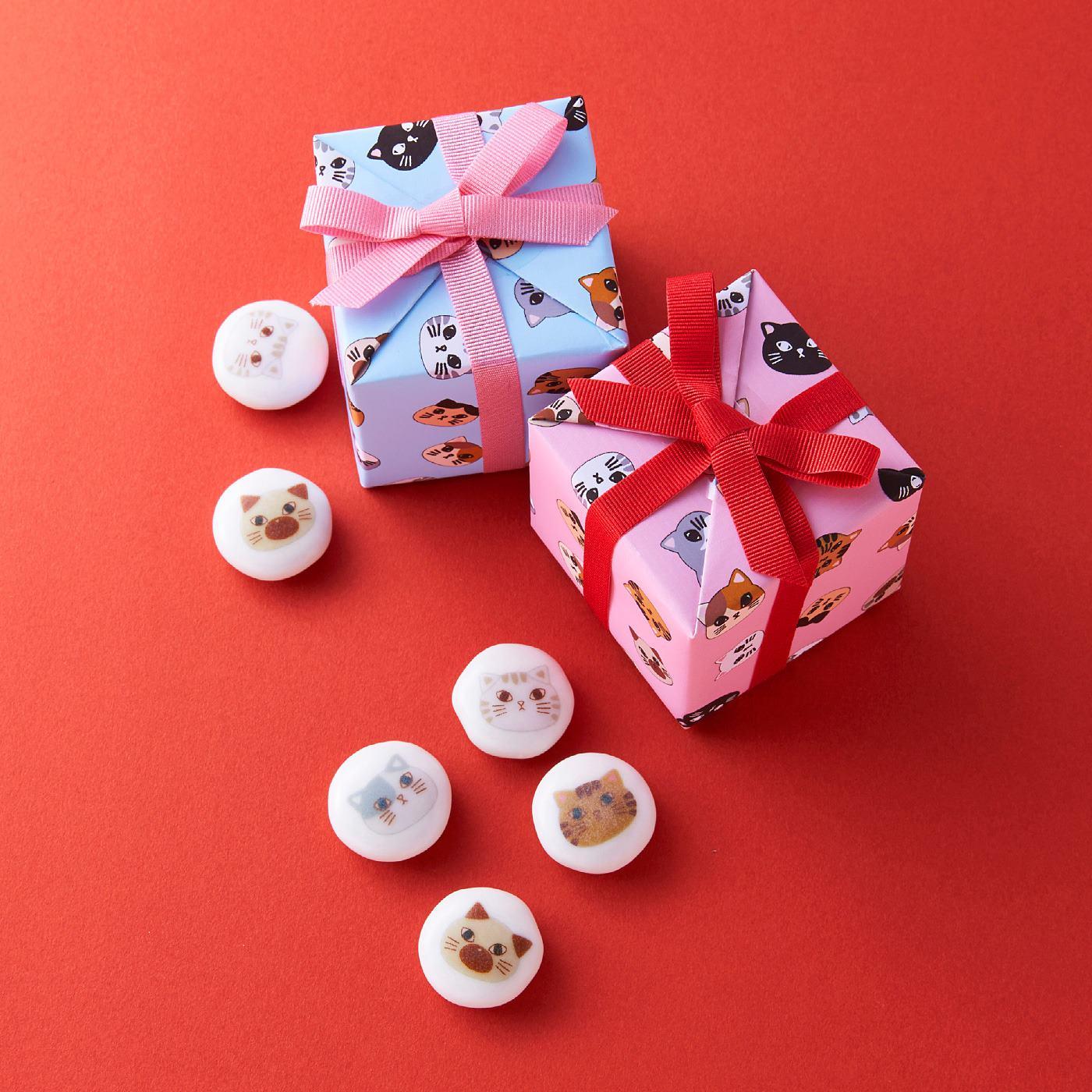 【ホワイトデイお届け】ねこチョコ ミニギフトボックスセット