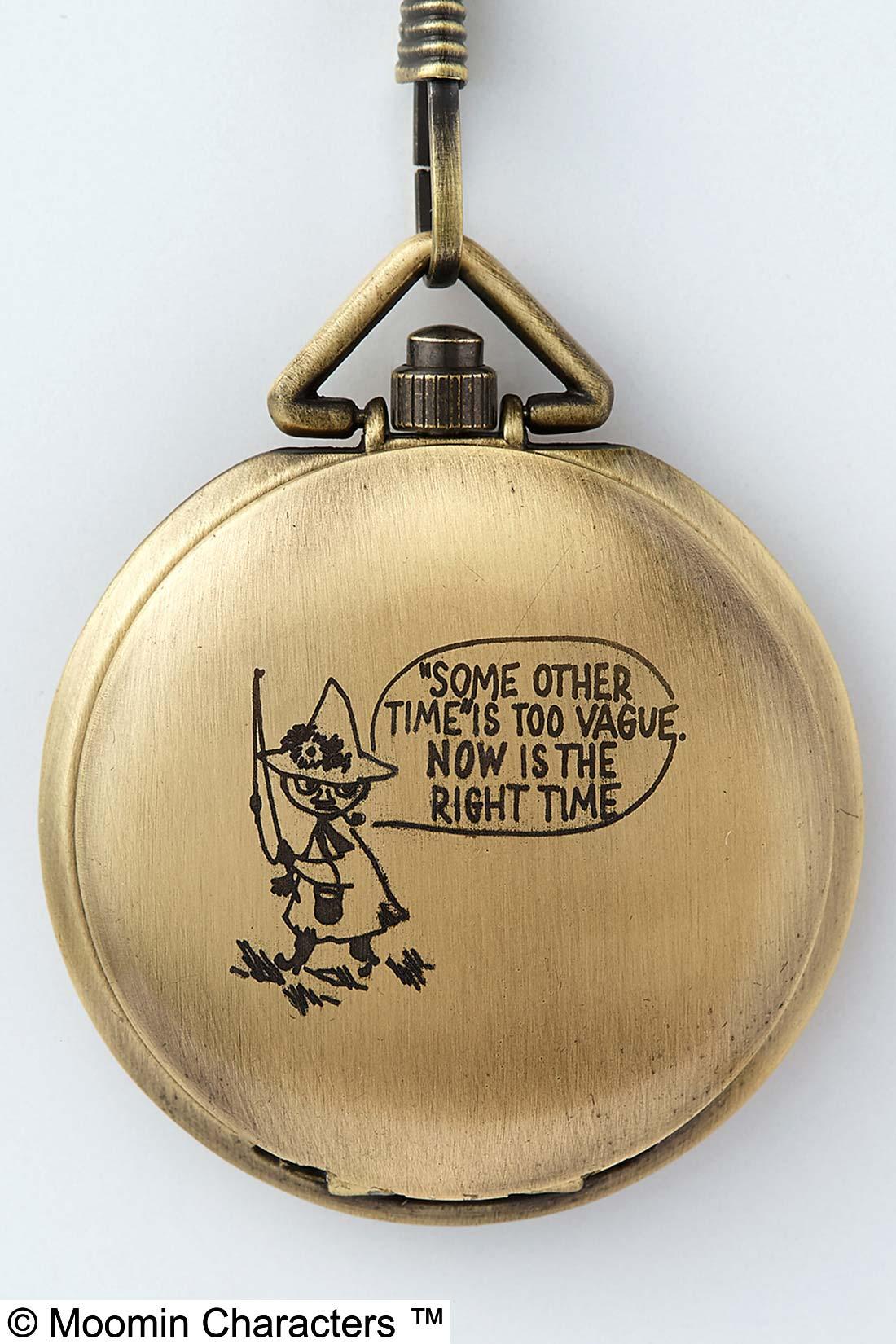 時計を閉じると、スナフキンの「いつかじゃなく今がそのとき」というセリフが。