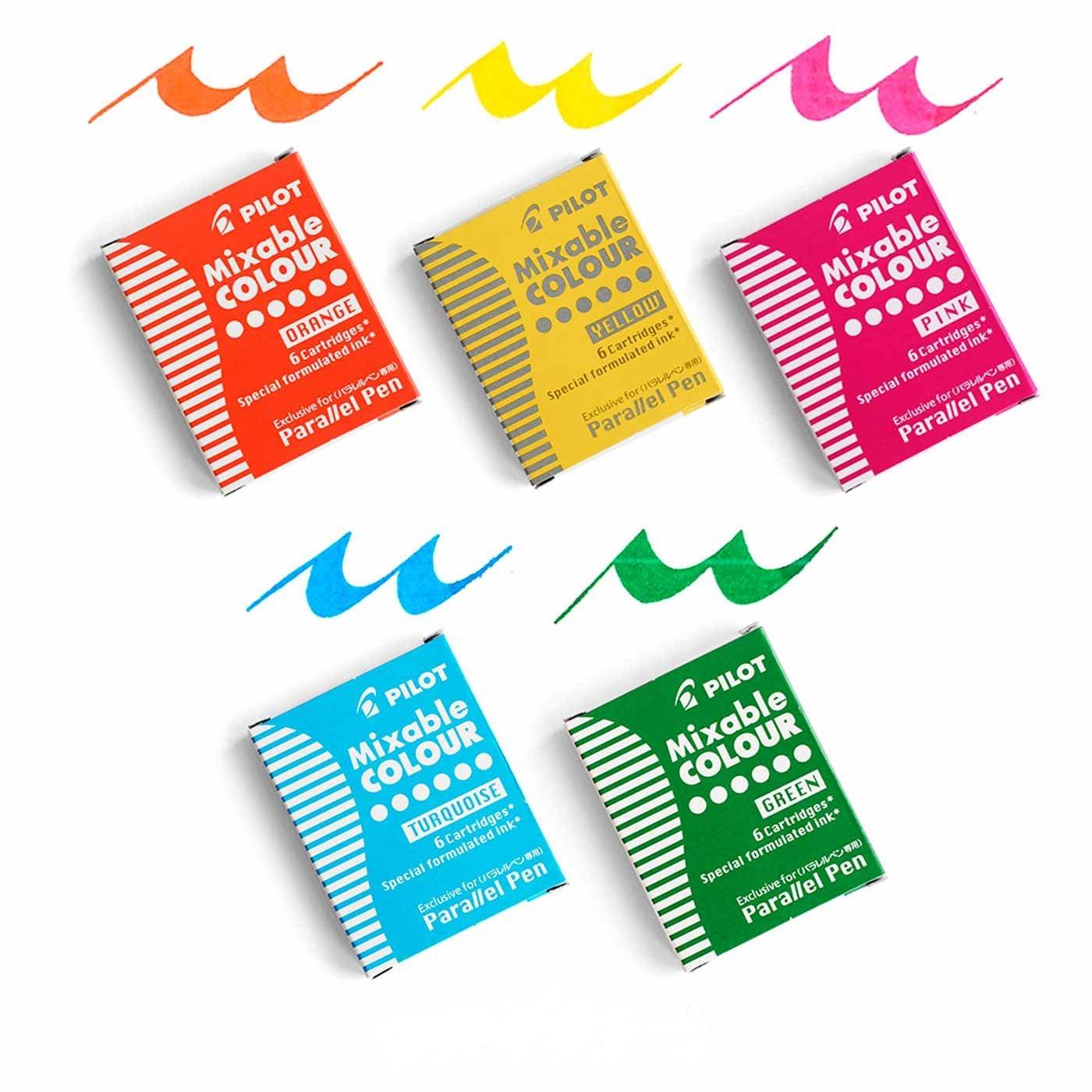 パラレルペン用カートリッジインク5色セット〈ポップカラー〉