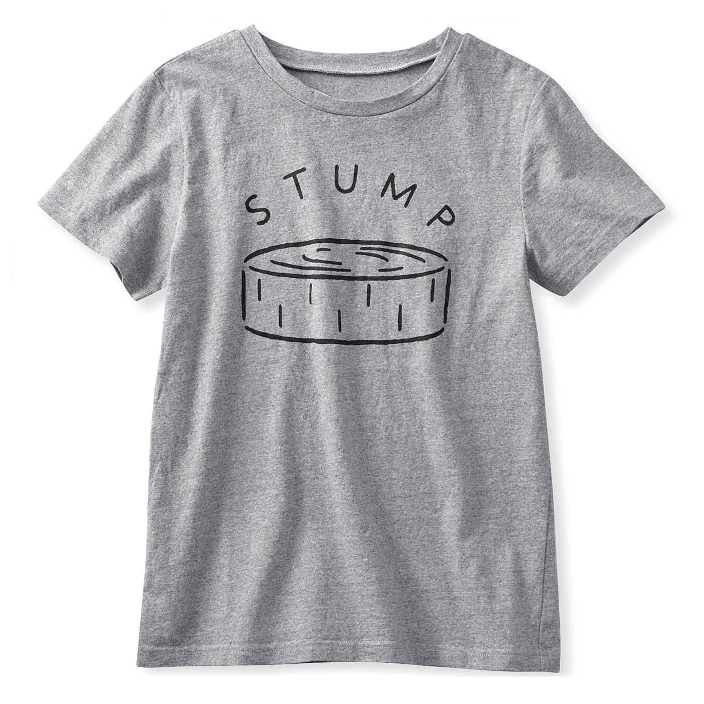 イラストレーターの山内庸資(やまうちようすけ)さんとつくった コミュニケーションTシャツ〈オトナ〉〈グレー杢〉