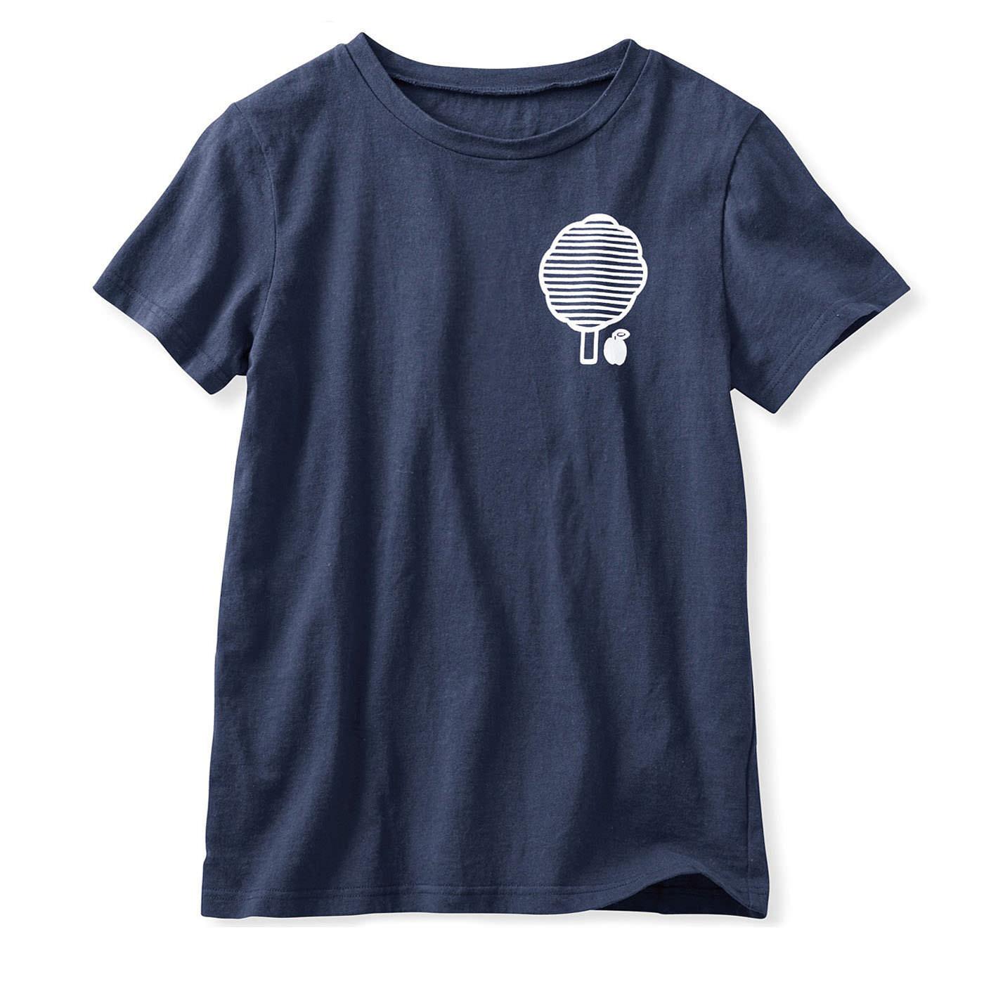 イラストレーターの山内庸資〈やまうちようすけ〉さんとつくった コミュニケーションTシャツ〈オトナ〉 〈ネイビー〉