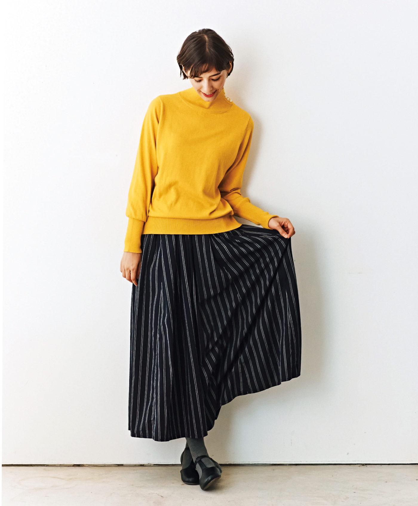 and myera レジメンタルスカート