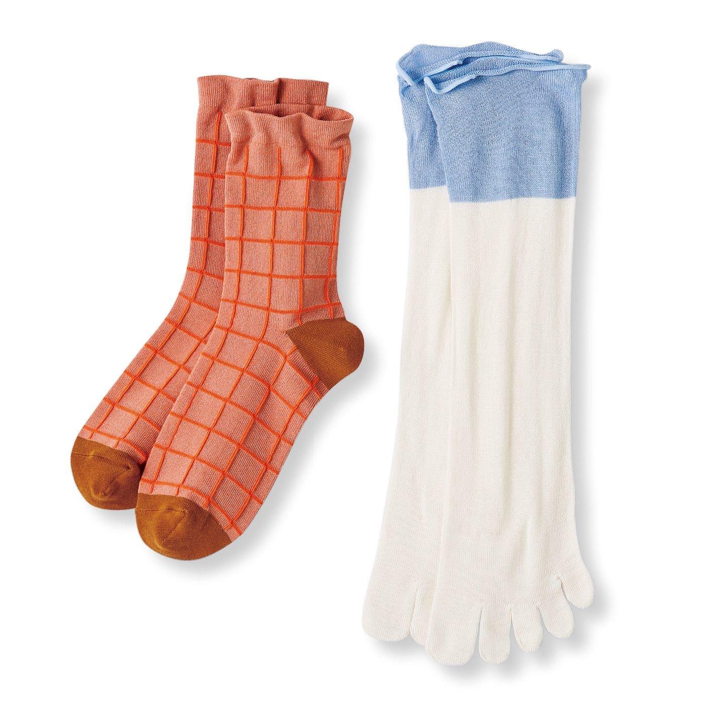 テキスタイルデザイナー 伊藤尚美さんと作った 合わせて楽しむ冷えとり習慣 シルク5本指と綿混靴下セット