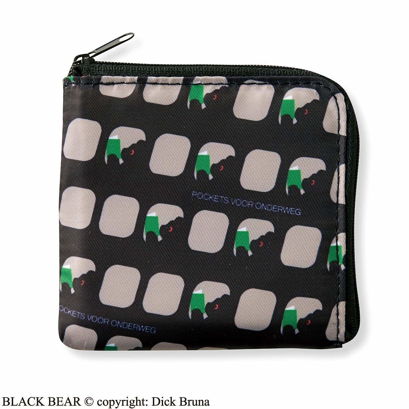 ブラック・ベア L字型ファスナーが便利なコンパクト財布