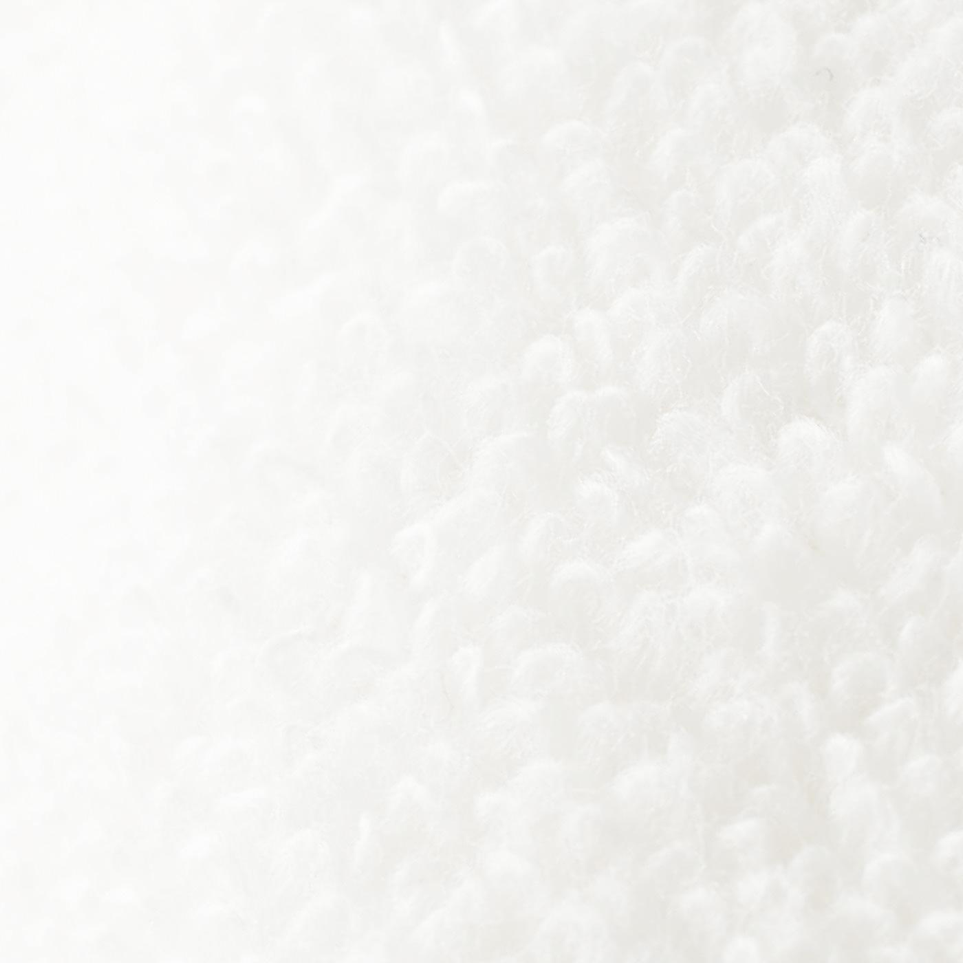 肌にうれしい無撚糸の綿パイル。