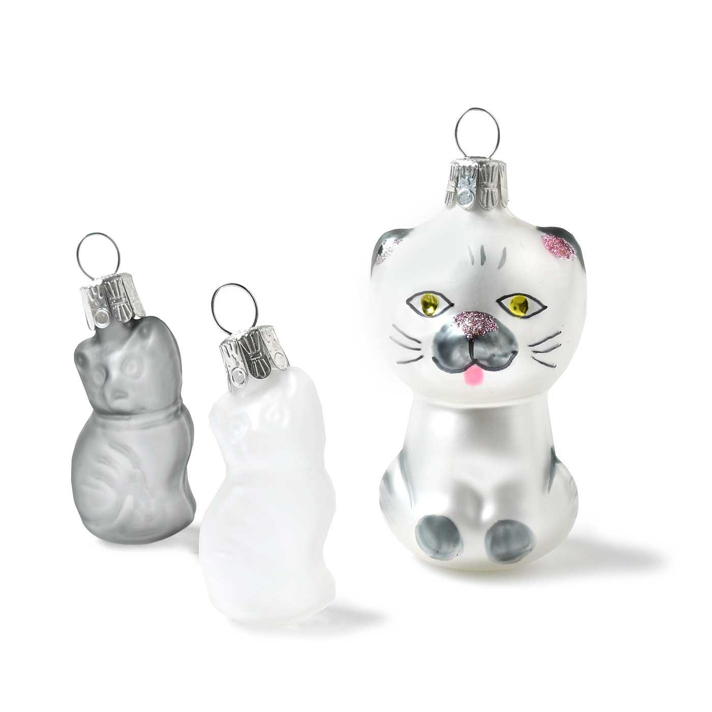 チェコからやってきた 猫まみれ雑貨コレクション〈ガラスのオーナメント〉
