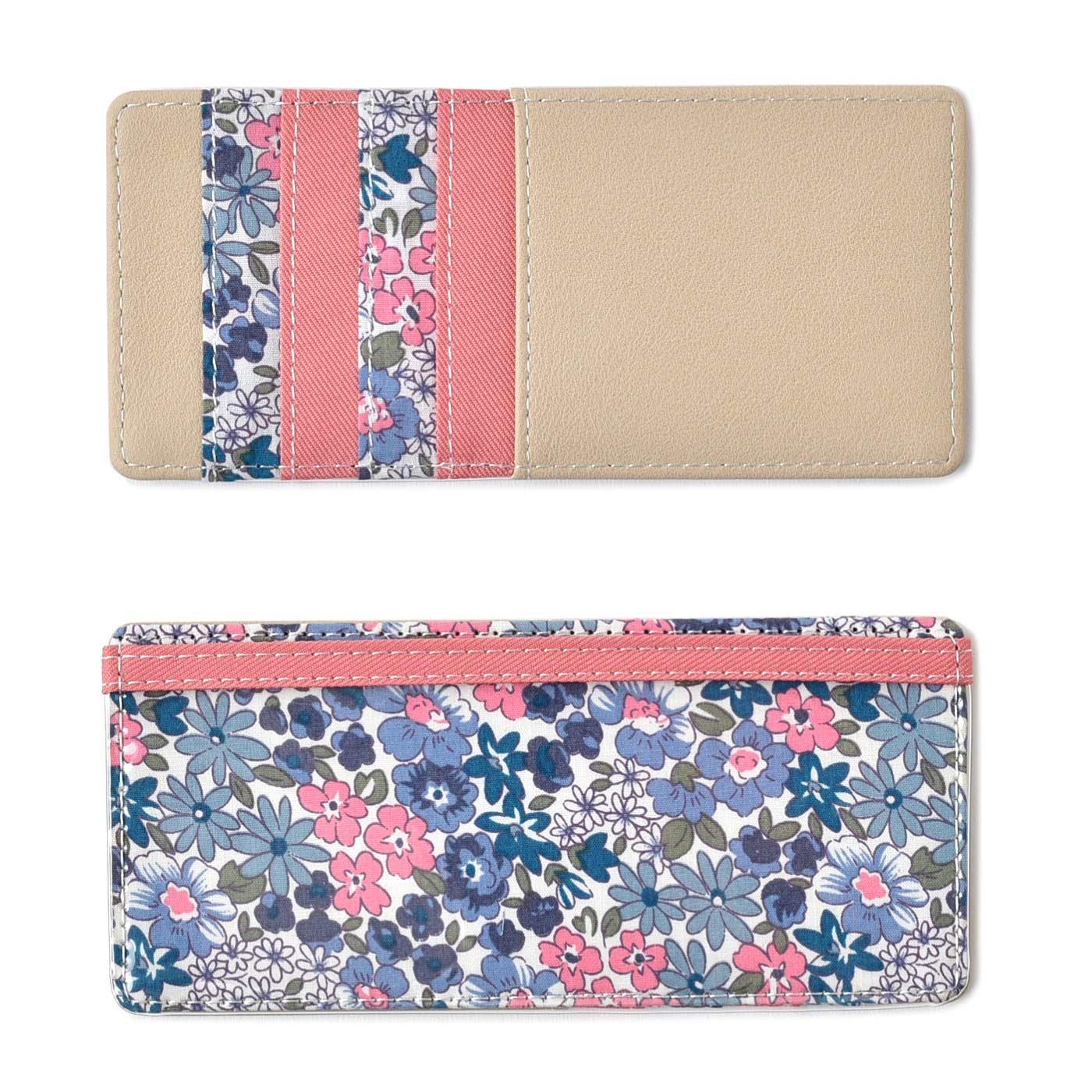 Squee! お財布美人の必需品 クリアポケット付き花柄インナーカードケース