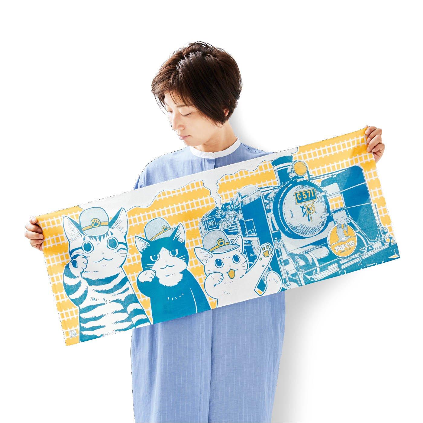 【山口県】JR西日本×フェリシモ猫部 猫まみれ名所 手ぬぐいの会