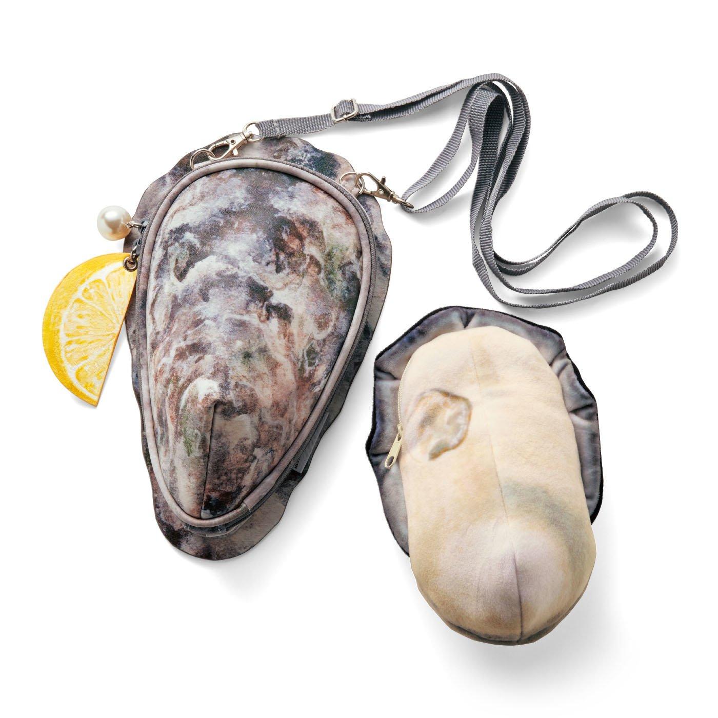 【広島県】JR西日本×YOU+MORE! 牡蠣のポーチ付き ショルダーバッグ